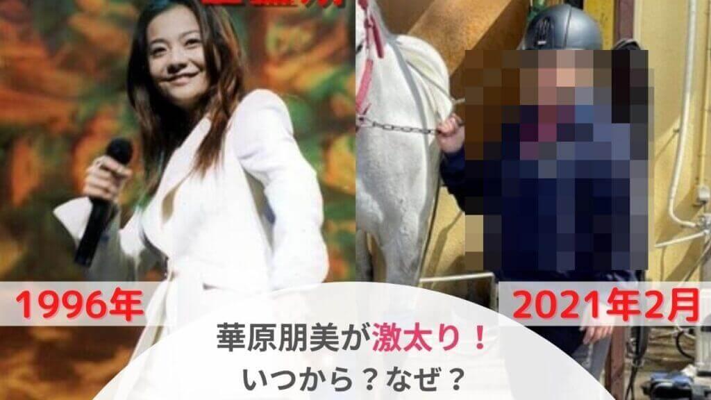 【2021】華原朋美が激太りして顔が違う!?太った理由は?比較画像