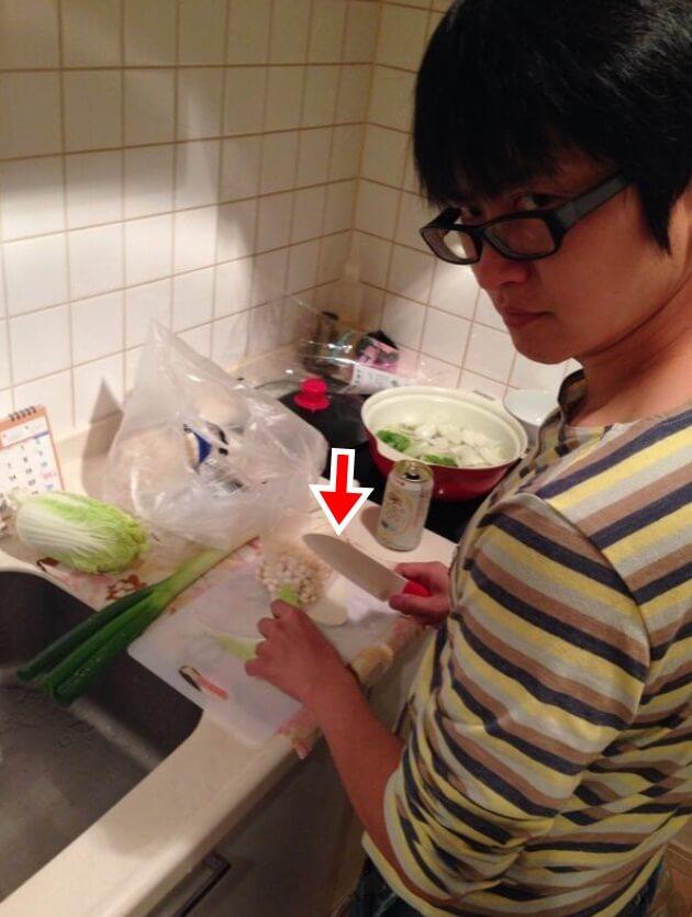 下野紘の家に子ども用包丁?
