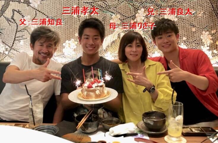 三浦孝太のプロフィールと家族